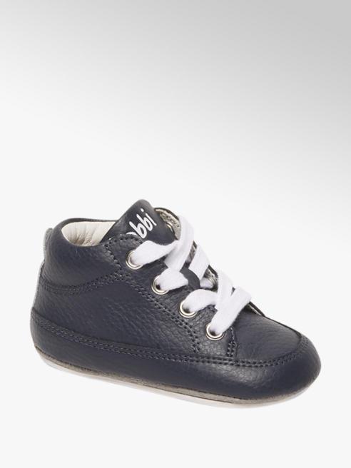 Bobbi-Shoes Blauwe leren veterschoentje