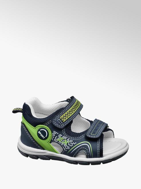Bobbi-Shoes Blauwe sandaal klittenband