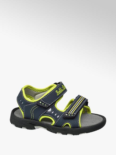 Bobbi-Shoes Blauwe sandaal klittenbandsluiting
