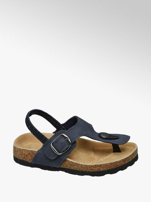 Bobbi-Shoes Blauwe sandalen leren voetbed