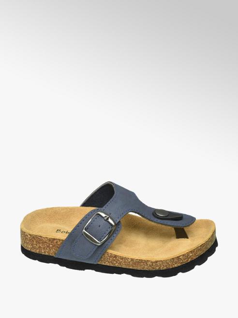 Bobbi-Shoes Blauwe slipper gespsluiting
