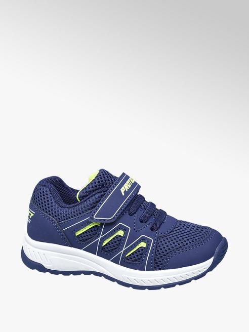 Bobbi-Shoes Blauwe sneaker elastische vetersluiting