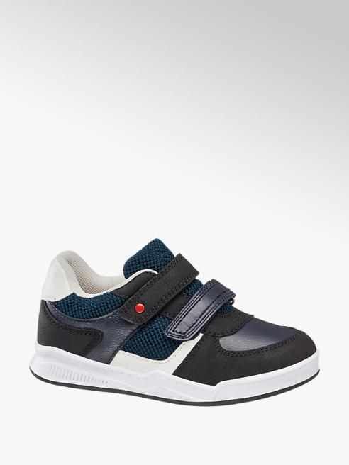 Bobbi-Shoes Blauwe sneaker klittenbandsluiting