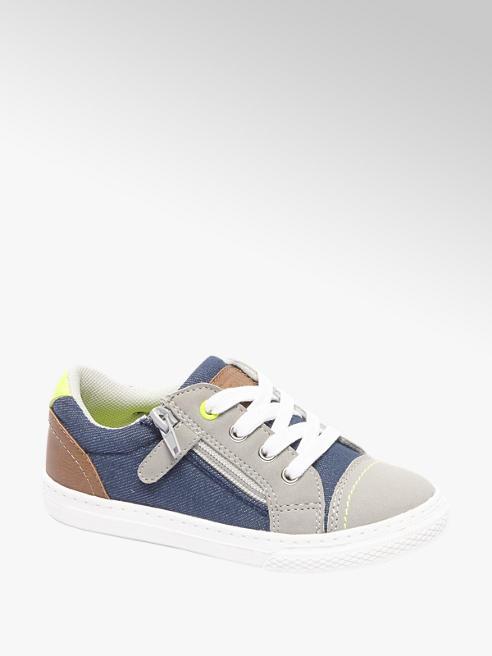 Bobbi-Shoes Blauwe sneaker ritssluiting