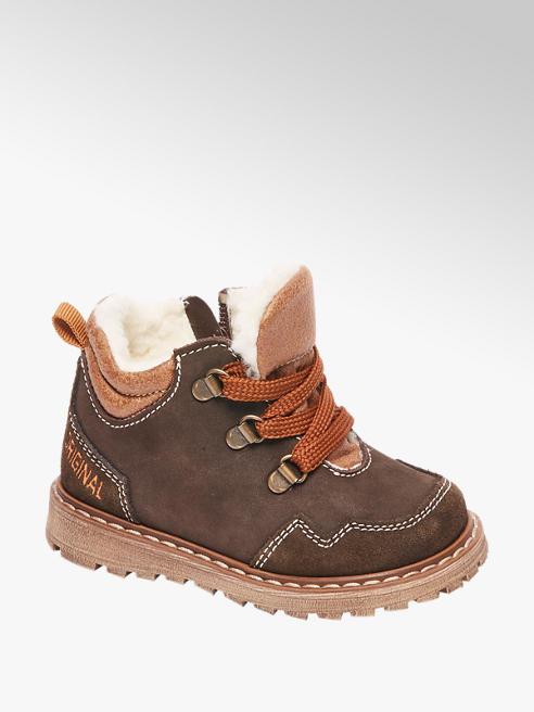 Bobbi-Shoes Bruine bootie vetersluiting