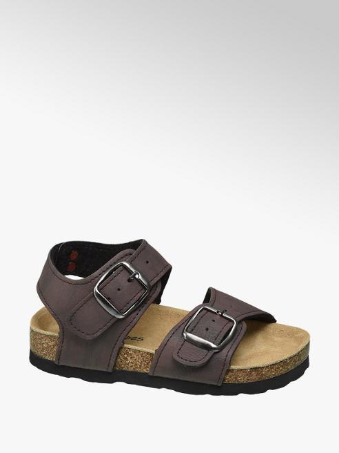Bobbi-Shoes Bruine sandaal leren voetbed