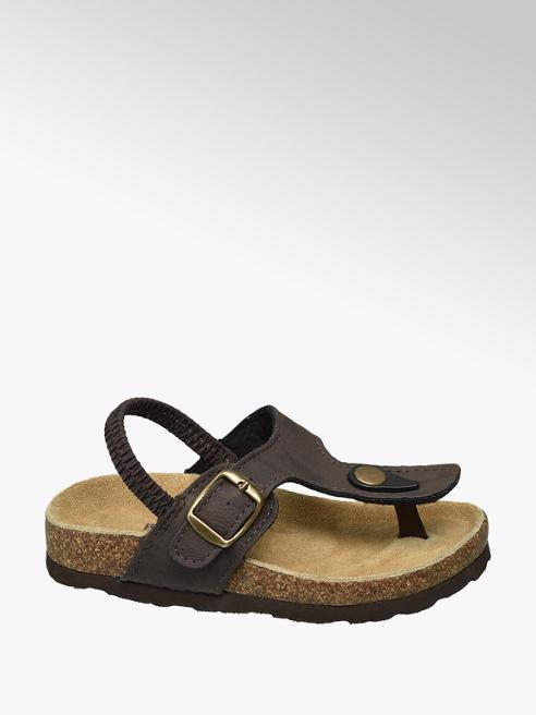 Bobbi-Shoes Bruine sandalen leren voetbed
