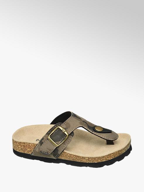 Bobbi-Shoes Camouflage slipper gespsluiting