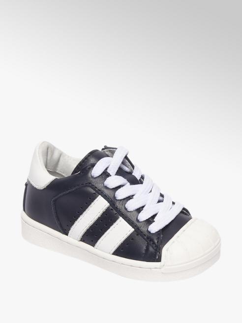 Bobbi-Shoes Donkerblauwe sneaker strepen