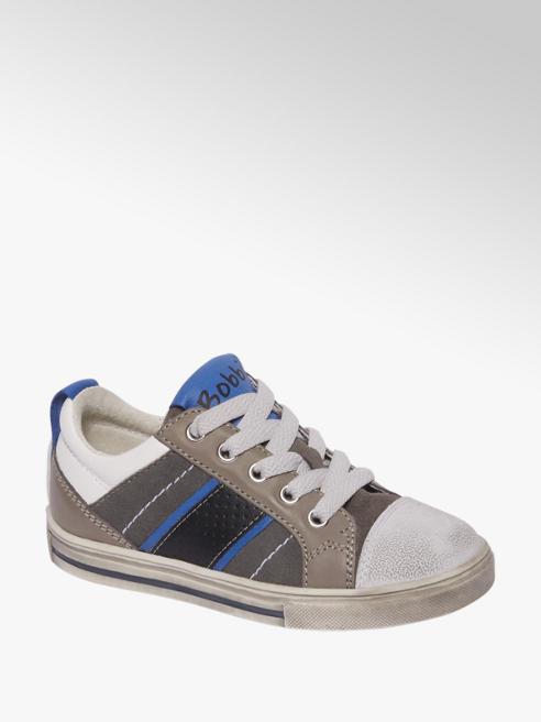 Bobbi-Shoes Grijze leren sneaker