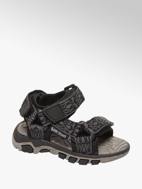 Bobbi-Shoes Grijze sandaal klittenbandsluiting