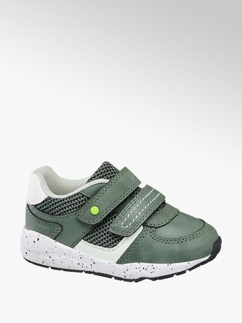 Bobbi-Shoes Groene sneaker klittenbandsluiting