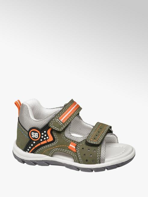 Bobbi-Shoes Khaki sandaal klittenbandsluiting