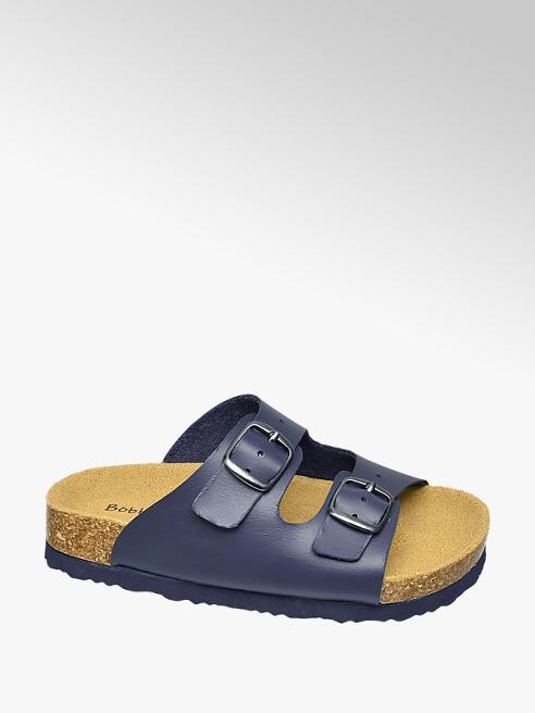 Bobbi-Shoes Leder Hauschuhe in Blau
