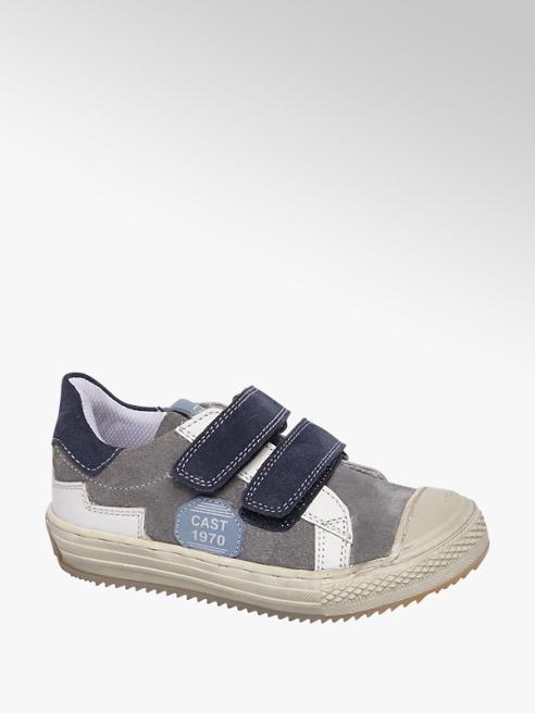 Bobbi-Shoes Lichtblauwe suède sneaker klittenband
