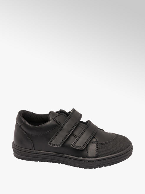 Bobbi-Shoes Toddler Boy Black Leather Twin Strap Shoes