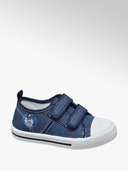 Bobbi-Shoes Toddler Boy Denim Twin Strap Canvas