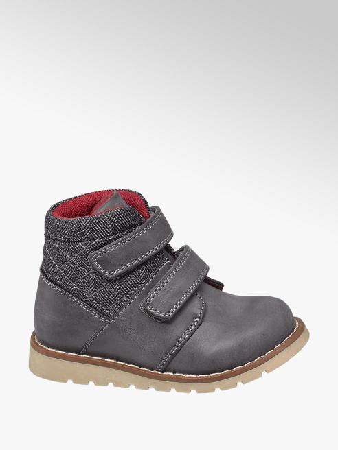 Bobbi-Shoes Toddler Boy Grey Twin Strap Ankle Boots