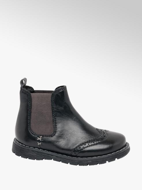 Bobbi-Shoes Toddler Boy Black Leather Chelsea Boots