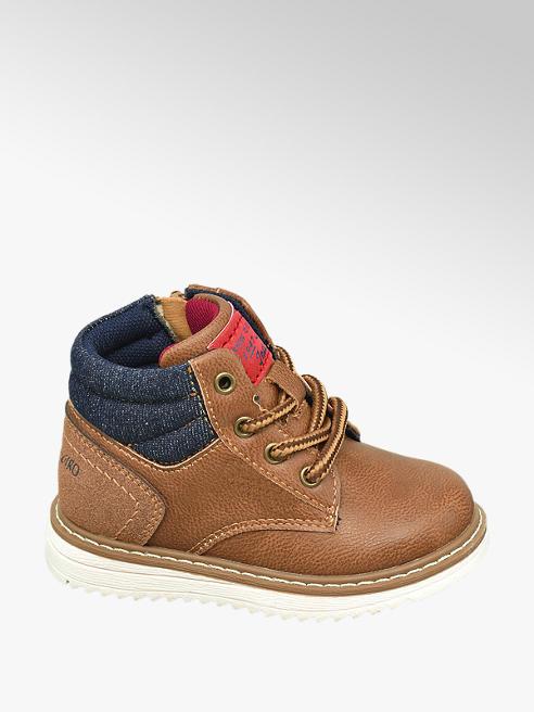 Bobbi-Shoes Toddler Boys Brown Lace Up Contrast Colour Lace Up Boots
