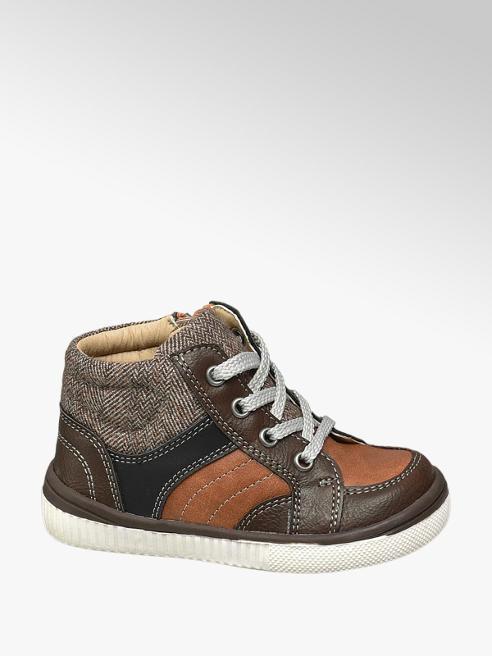 Bobbi-Shoes Toddler Boy Brown Hi-Tops
