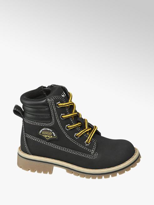 Bobbi-Shoes Toddler Boys Black Lace Up Boots