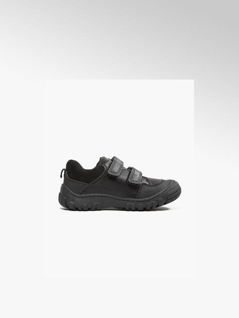 Bobbi-Shoes Toddler Boys Black Sporty Twin Strap Shoes