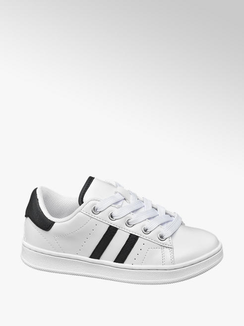 Bobbi-Shoes Witte sneaker vetersluiting