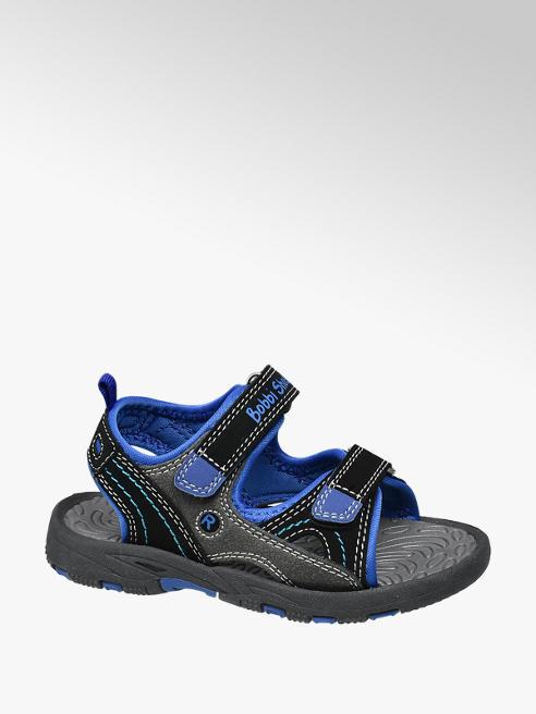 Bobbi-Shoes Zwarte sandaal klittenbandsluiting