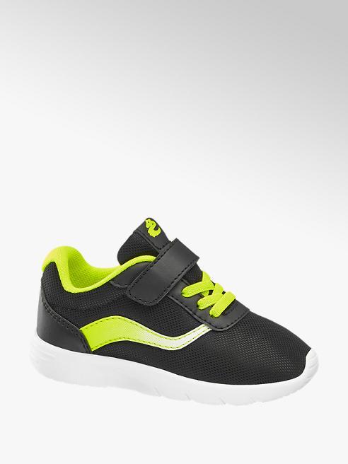 Bobbi-Shoes Zwarte sneaker vetersluiting