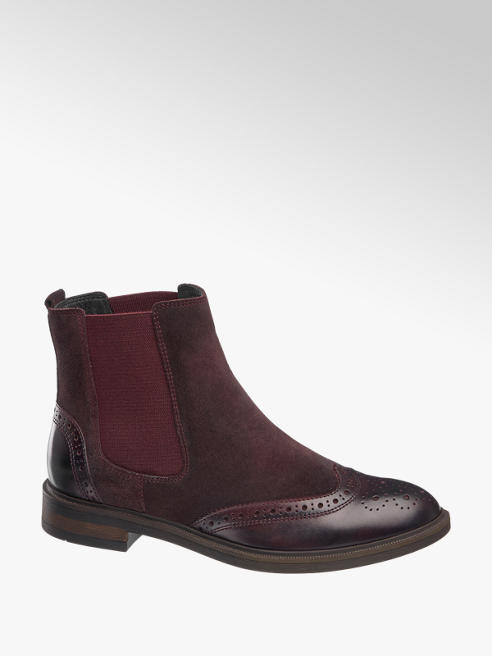 5th Avenue Bordó chelsea boot