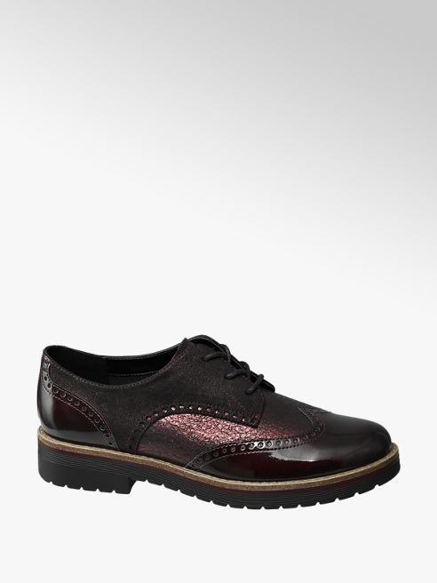 Graceland Bordó dandy cipő
