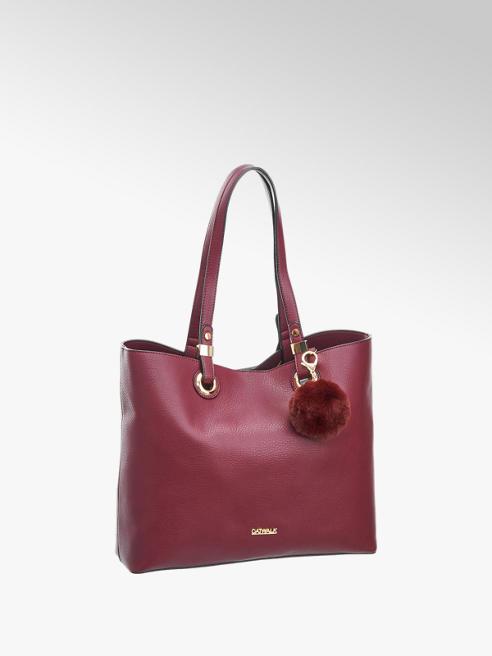 Catwalk Bordó női shopper táska