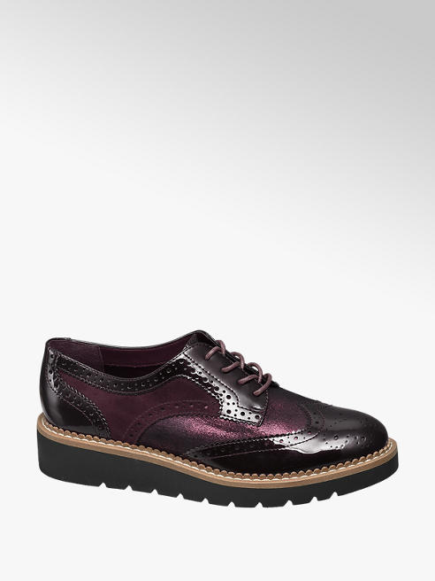Graceland Bordeaux lak dandy veterschoen brogue