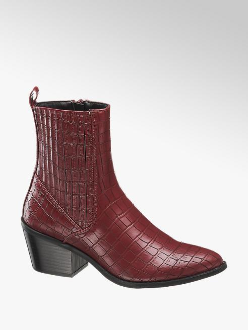 Vero Moda Bordová Chelsea obuv so zvieracím vzorom Vero Moda