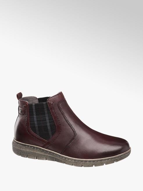 Medicus Bordová kožená komfortná Chelsea obuv Medicus