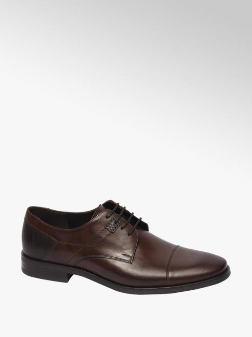 Borelli Bruine leren geklede schoen