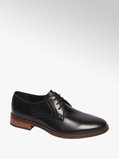 Borelli Zwarte geklede schoen vetersluiting