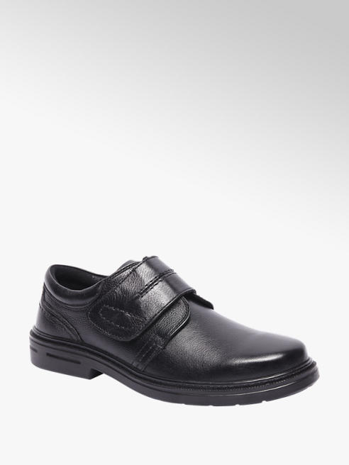 Borelli Zwarte leren geklede schoen