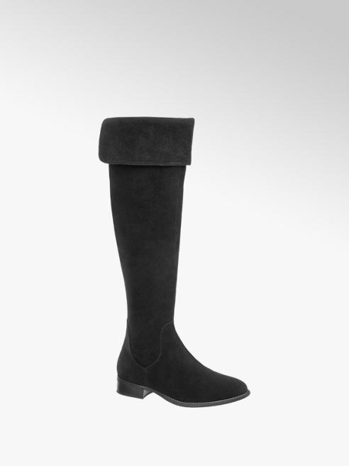 5th Avenue Bota over the knee em pele
