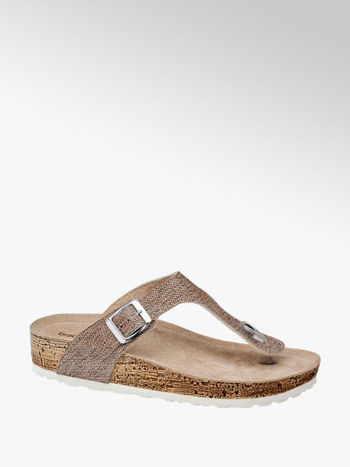 Graceland Béžové pantofle Graceland