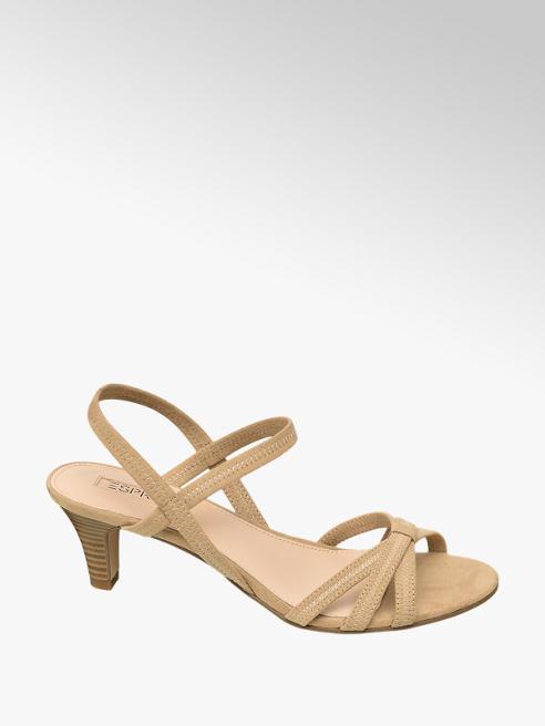 Esprit Béžové sandále na podpätku Esprit