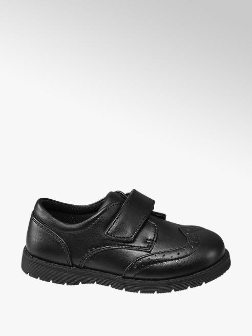 Bobbi-Shoes Toddler Boy Black Rip Tape Brogue
