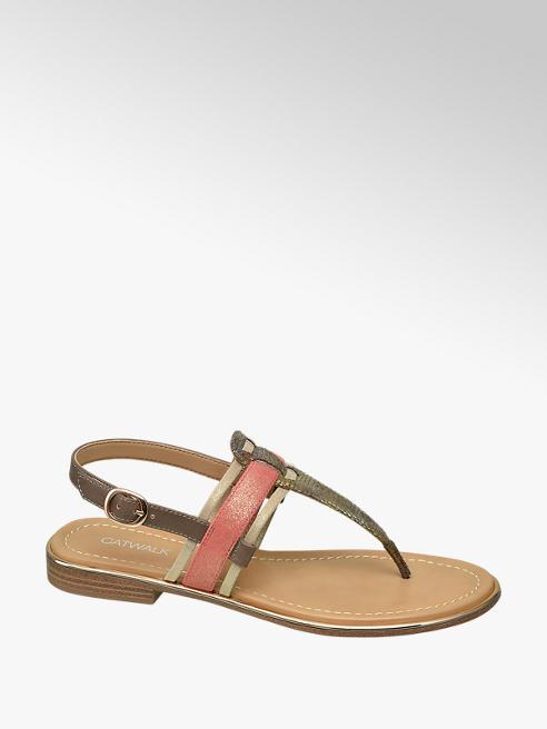 Catwalk Bronz lábujjközi női szandál