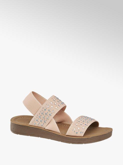 Graceland Broskyňové sandále Graceland