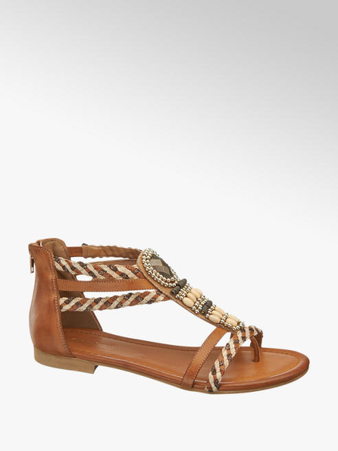 Graceland Tan Gladiator Sandals