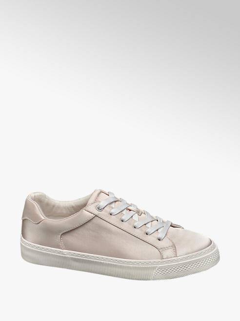 Graceland Bézs szatén sneaker