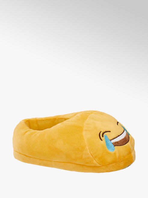 Casa mia Ladies Novelty Laughing Smiley Slippers