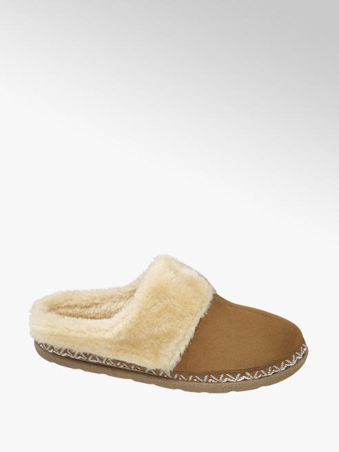 Casa mia Ladies Plush Mule Slippers