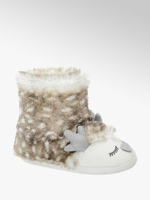 Casa mia Ladies Casa Mia Reindeer Slipper Boot